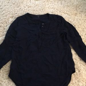 J. Crew size 10 long sleeved navy blouse